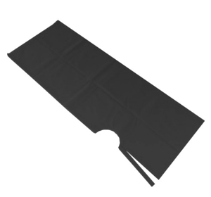 Peleryny jednorazowe z włókniny czarne 10 szt