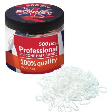 Gumki silikonowe bezbarwne Ronney 500 szt