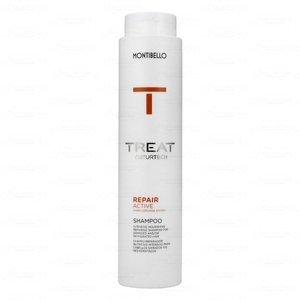 MONTIBELLO TREAT NATURTECH szampon do włosów zniszczonych Repair Active 300 ml