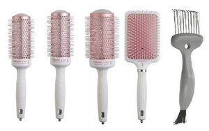 Zestaw szczotek Olivia Garden Ceramic Ion 4 sztuki (35,45,55,PDL) + Brush Cleaner