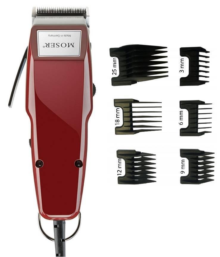 Moser 1400 Burgund Germany Maszynka do włosów + komplet nasadek