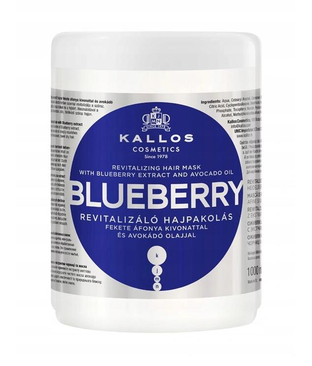 Maska Kallos KJMN Blueberry Jagodowa 1000ml