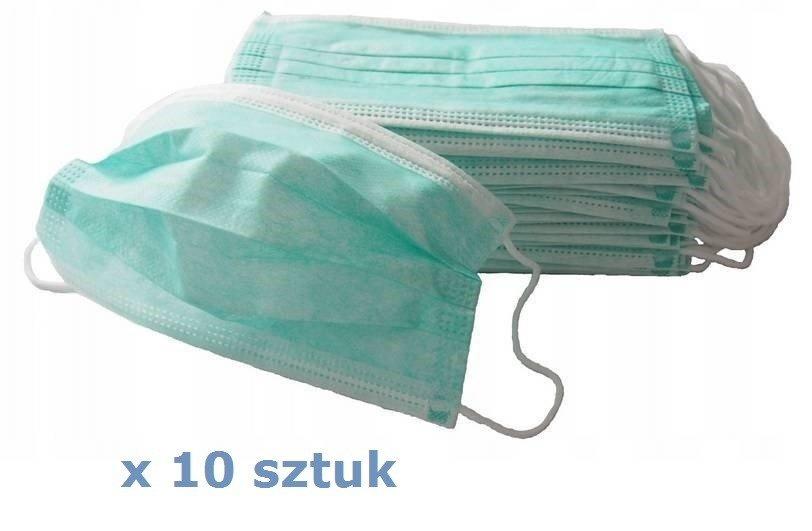 Maska, Maseczka Chirurgiczna 3-warstwowa x 10 sztuk